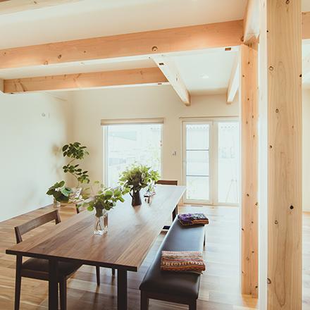 家作りの考え方 「家族が安心して安 全に暮らせる。」「小さなエネルギーで快適に暮らす。」